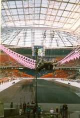 Pohled skrz stadion Ajjaxu